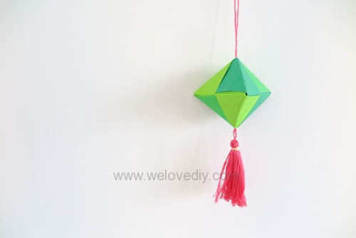 DIY 端午節手作三色摺紙粽子手工吊飾教學