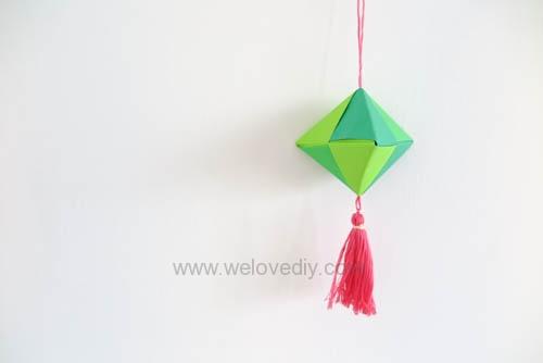 DIY 端午節手作摺紙粽子手工吊飾教學 (1)