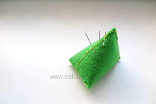 DIY 端午節手作毛氈不織布粽子手工裝飾針插作法