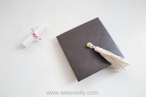 DIY 畢業季學士帽手工立體信封卡片 (13)