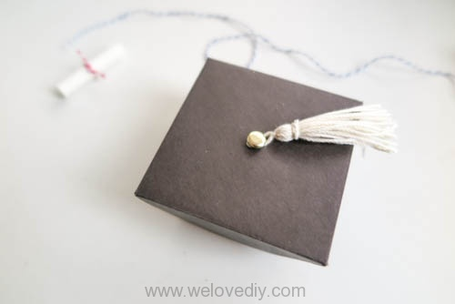 DIY 畢業季學士帽手工立體信封卡片 (14)