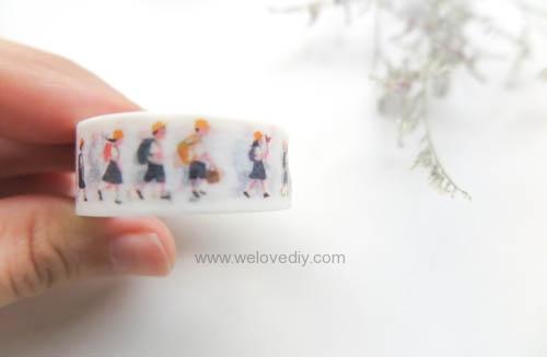 DIY washi tape 日本和紙膠帶 牆壁相片相框 Let's Create 愛藝享台灣創作人 排路隊 真隱