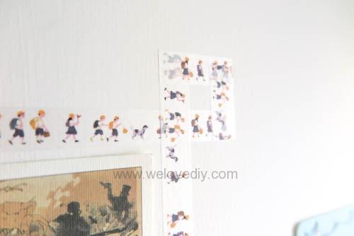 DIY washi tape 日本和紙膠帶 牆壁相片相框 Let's Create 愛藝享台灣創作人 (12)