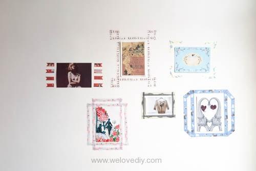 DIY washi tape 日本和紙膠帶 牆壁相片相框 Let's Create 愛藝享台灣創作人