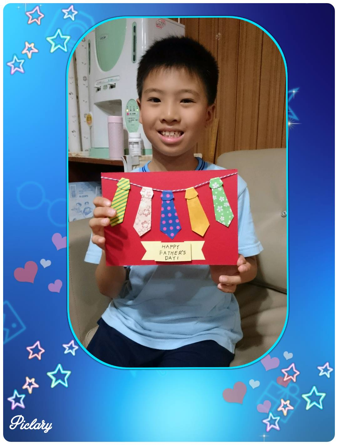 父親節領帶摺紙吊飾卡片
