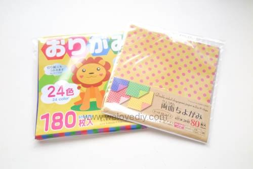 DAISO Origami Paper DIY Father's Day 父親節親子手作襯衫領帶摺紙教學大創色紙