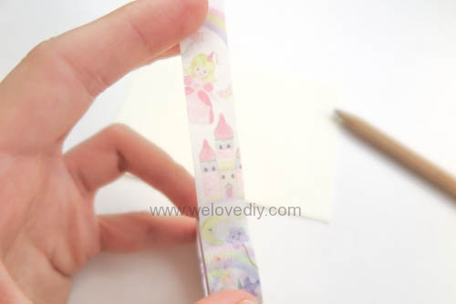 DIY 平面信封變身可愛禮物紙袋 Let's Create 愛藝享紙膠帶 (11)