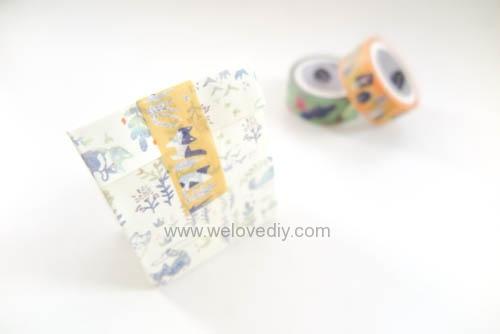 DIY 平面信封變身可愛禮物紙袋 Let's Create 愛藝享紙膠帶 (23)