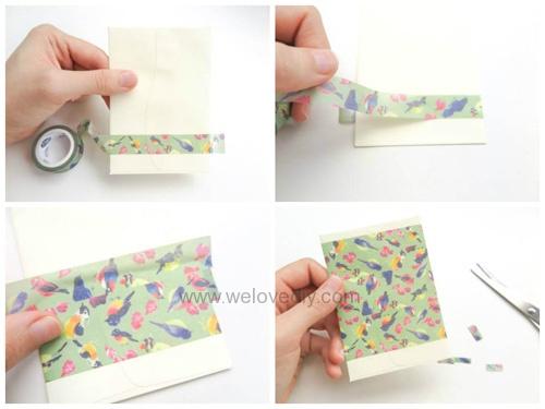 DIY 平面信封變身可愛禮物袋 Let's Create 愛藝享紙膠帶 (2)