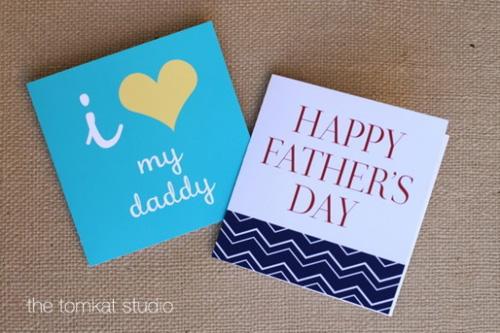 DIY 父親節手工卡片免費檔案下載