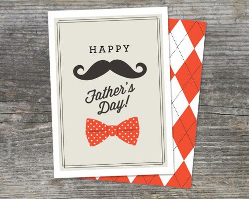 DIY 父親節手工卡片免費檔案下載2