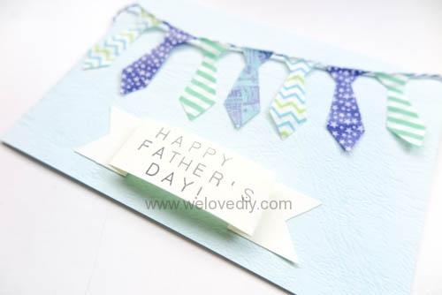 DIY 父親節手工卡片紙膠帶領帶掛飾 (2)