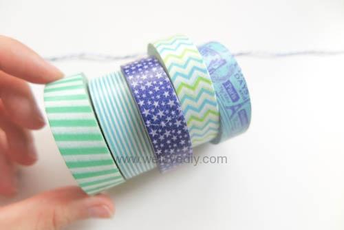DIY 父親節手工卡片紙膠帶領帶掛飾 (4)