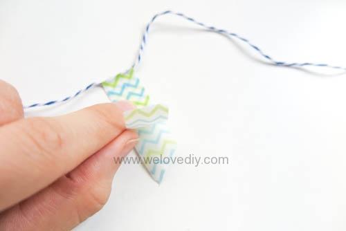 DIY 父親節手工卡片紙膠帶領帶掛飾 (6)