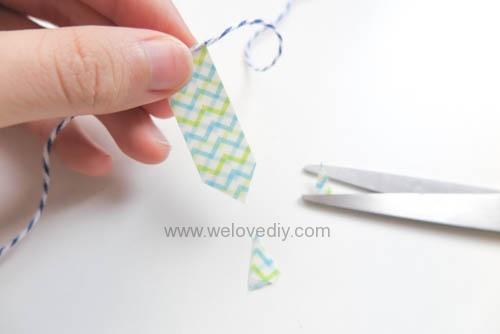 DIY 父親節手工卡片紙膠帶領帶掛飾 (7)