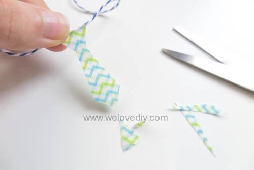 DIY 父親節手工卡片紙膠帶領帶掛飾 (8)