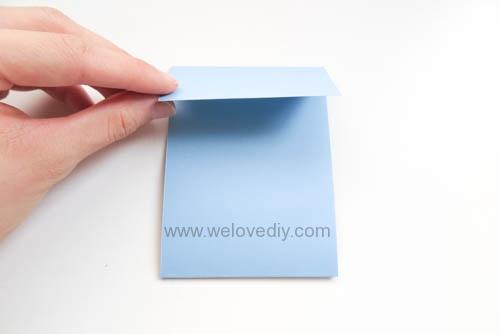 DIY 父親節爸爸領帶三折手工卡片教學 (3)