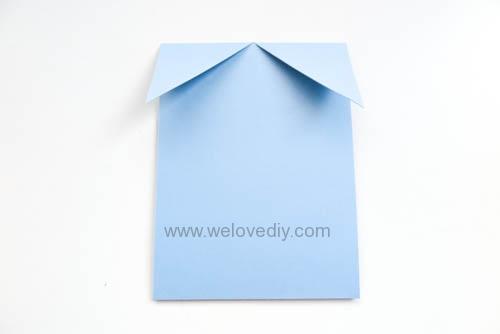 DIY 父親節爸爸領帶三折手工卡片教學 (5)