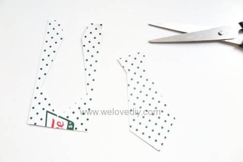 DIY 父親節爸爸領帶三折手工卡片教學 (6)
