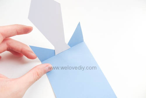 DIY 父親節爸爸領帶三折手工卡片教學 (8)