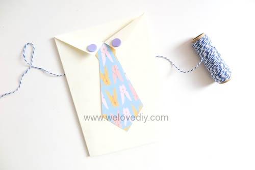 DIY 父親節襯衫領帶親子禮物小卡包裝手工卡片
