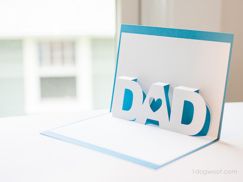 DIY 父親節 3D 立體手工卡片免費檔案下載