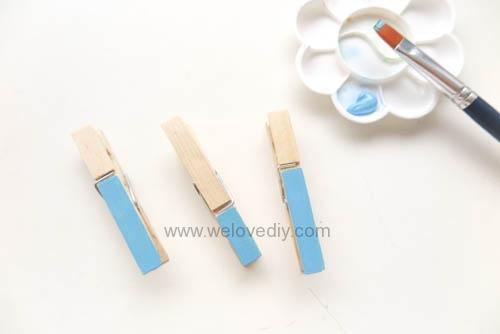 DIY 親手手作小小兵造型木頭木質曬衣夾教學 (10)