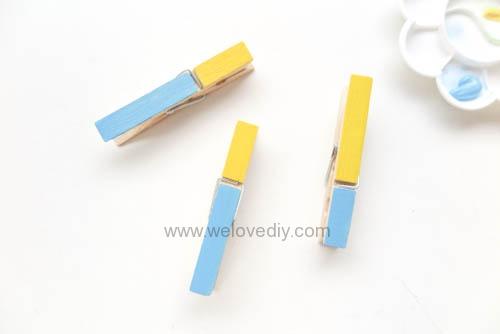DIY 親手手作小小兵造型木頭木質曬衣夾教學 (11)