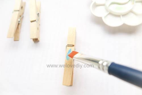 DIY 親手手作小小兵造型木頭木質曬衣夾教學 (9)