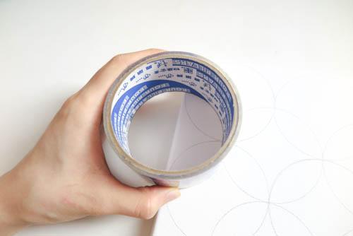 DIY Circle Pattern 手繪無縫相交幾何圓形圖案 (11)