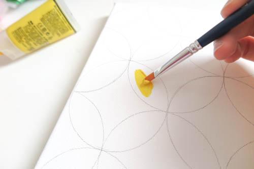 DIY Circle Pattern 手繪無縫相交幾何圓形圖案 (15)