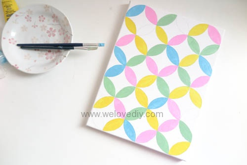 DIY Circle Pattern 手繪無縫相交幾何圓形圖案 (18)