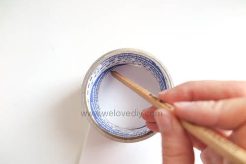 DIY Circle Pattern 手繪無縫相交幾何圓形圖案 (3)