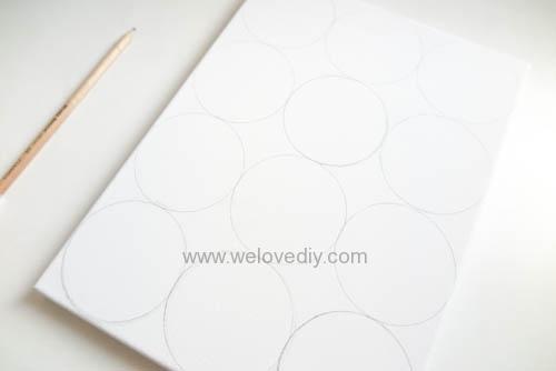 DIY Circle Pattern 手繪無縫相交幾何圓形圖案 (7)