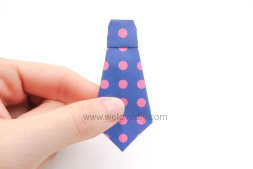 DIY Father's Day 父親節親子手作爸爸的領帶摺紙教學