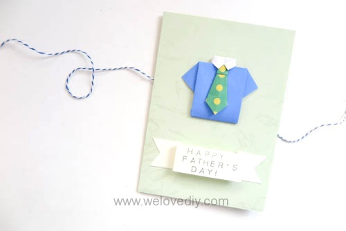 DIY Father's Day 父親節親子手作襯衫領帶摺紙教學 (12)