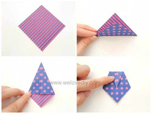 DIY Father's Day 父親節親子手作襯衫領帶摺紙教學 (3)