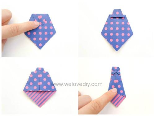 DIY Father's Day 父親節親子手作襯衫領帶摺紙教學 (4)