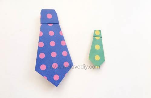 DIY Father's Day 父親節親子手作襯衫領帶摺紙教學 (9)