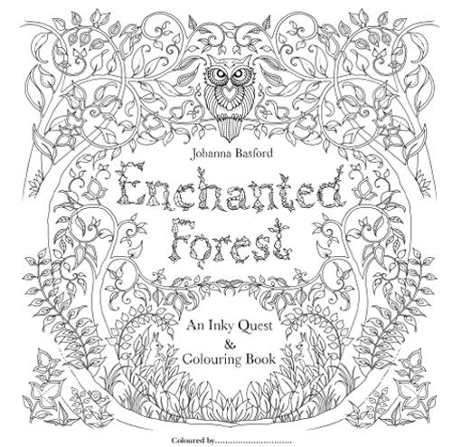 Enchanted Forest  魔法森林 秘密花園第二集大人著色畫免費圖檔下載