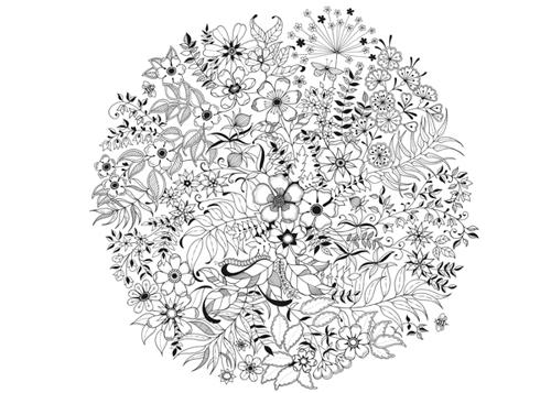 WE LOVE DIY 手創玩家 超舒壓大人著色畫 祕密花園 Secret Garden 免費圖檔下載