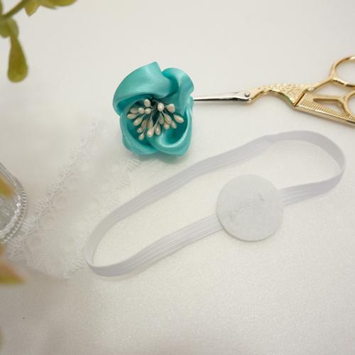 DIY 彌月禮嬰兒頭飾新生兒緞帶頭花 HAO HUO 好貨 (13)