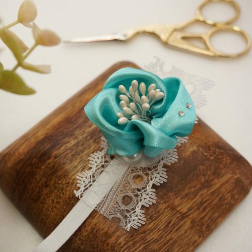 DIY 彌月禮嬰兒頭飾新生兒緞帶頭花 HAO HUO 好貨 (15)