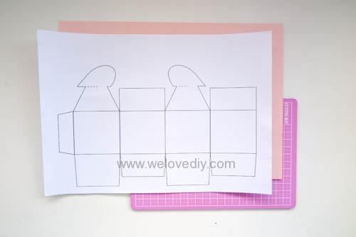 DIY 情人節愛心禮物盒 免費檔案下載 (1)