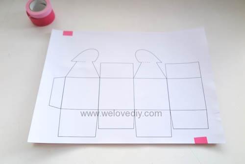DIY 情人節愛心禮物盒 免費檔案下載 (3)