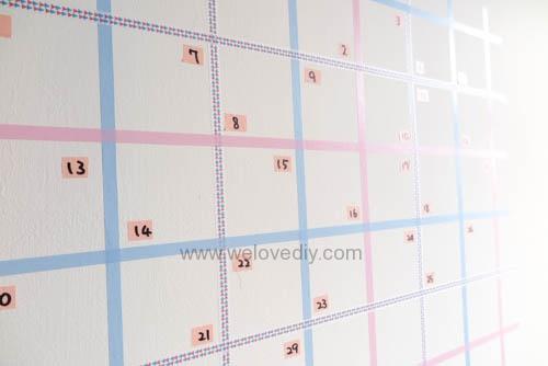 DIY 紙膠帶月曆 開學季 租屋族的家居裝飾 (11)