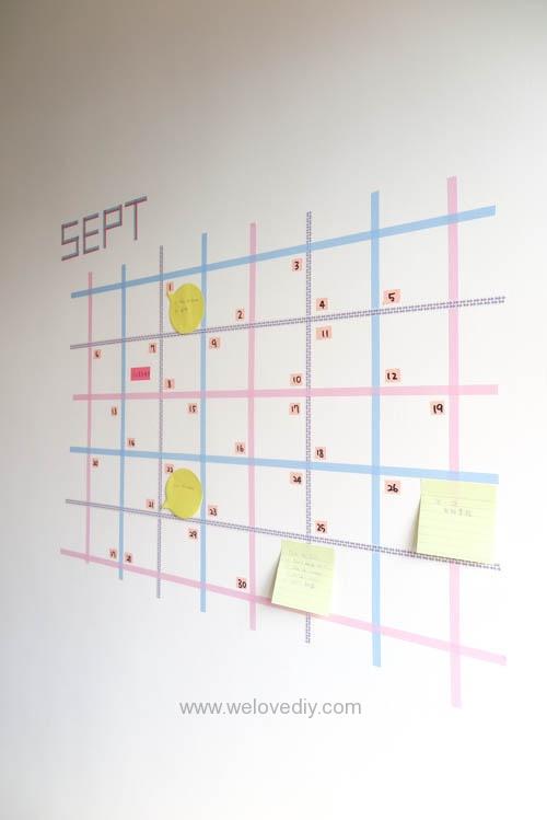 DIY 紙膠帶月曆 開學季 租屋族的家居裝飾 (15)