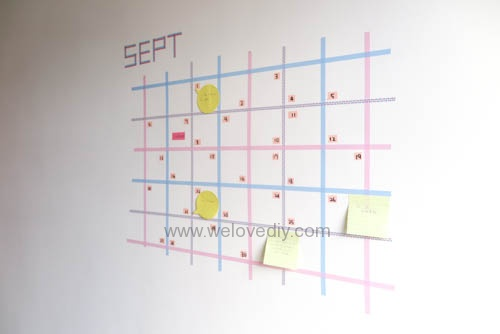 DIY 紙膠帶月曆 開學季 租屋族的家居裝飾 (16)