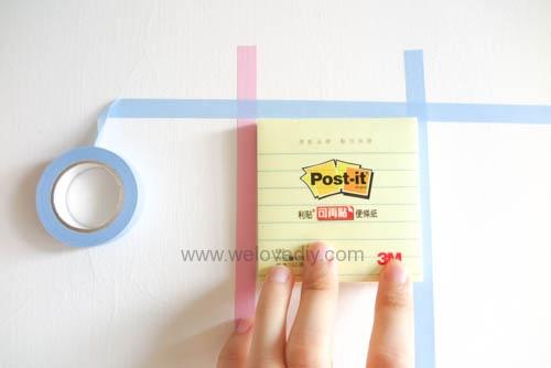 DIY 紙膠帶月曆 開學季 租屋族的家居裝飾 (6)