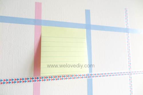 DIY 紙膠帶月曆 開學季 租屋族的家居裝飾 (7)
